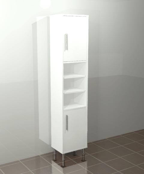 Bathroom White Cabinet