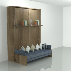 Beige Wall Bed Unit